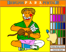 Coloring drawings on-line