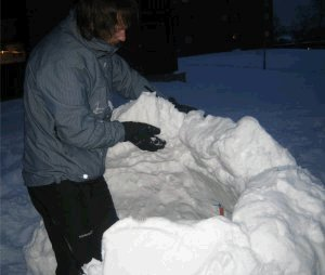 Construir paredes igloo